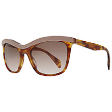 Buy Prada PR19PS 0A6 Border Square Cat's Eye Framed Sunglasses, Pink Havana Online at johnlewis.com
