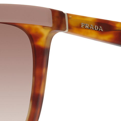 Buy Prada PR19PS 0A6 Border Square Cat's Eye Framed Sunglasses Online at johnlewis.com
