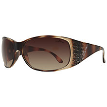 Buy BLOC Turin F82 4430 Square Sunglasses,  Brown Online at johnlewis.com