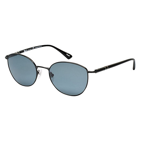 Buy Persol PO2421S 522/4N Oval Metal Photochromatic Polarised Sunglasses, Shiny Black Online at johnlewis.com