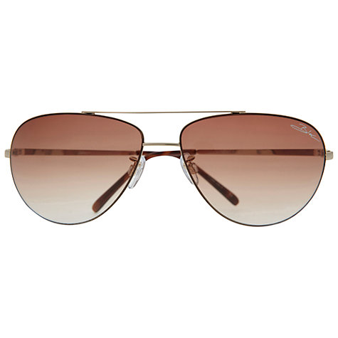 Buy BLOC Hurricane 2300 Metal Frame Aviator Sunglasses, Gold Online at johnlewis.com