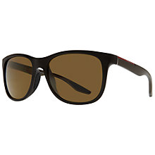 Buy Prada Linea Rossa 0PS 03OSN AS5Y1 D-Framed Acetate Sunglasses, Brown Online at johnlewis.com
