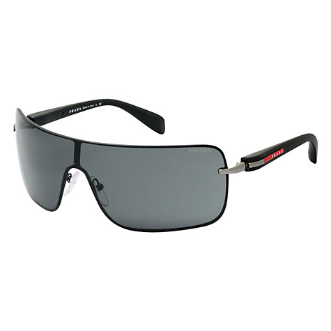 Buy Prada Linea Rossa PS55OS Square Frame Visor Style Sunglasses Online at johnlewis.com