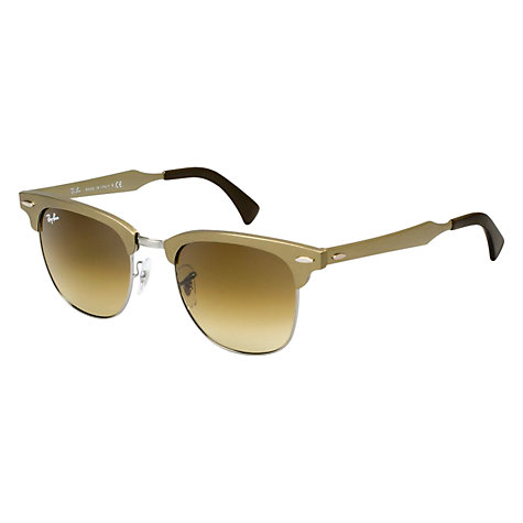 Buy Ray-Ban RB3507 Clubmaster Sunglasses, Bronze Online at johnlewis.com