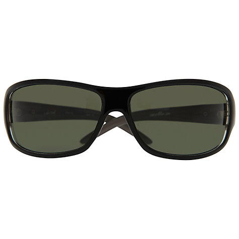 Buy BLOC New York 1330 Rectangular Wrap Around Sunglasses, Black Online at johnlewis.com