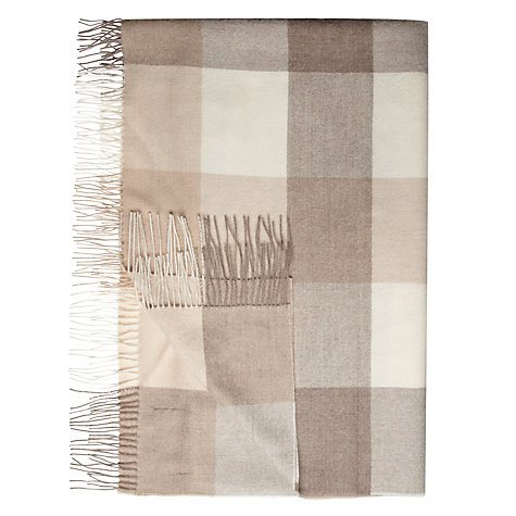 Buy Bronte by Moon Alpaca Checked Throw Online at johnlewis.com