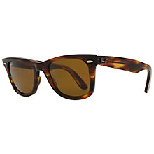 Buy Ray-Ban RB2132 6012 New Wayfarer Sunglasses, Tortoiseshell Brown Online at johnlewis.com