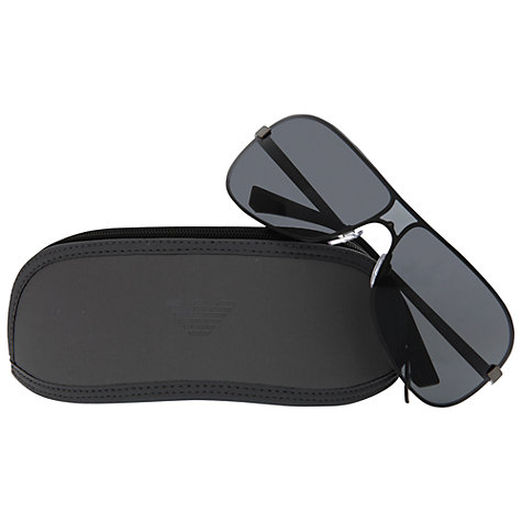 Buy Emporio Armani EA2008 Visor Aviator Style Sunglasses Online at johnlewis.com
