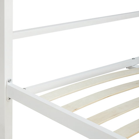Buy House by John Lewis Ollie Bedstead, Double, White Online at johnlewis.com