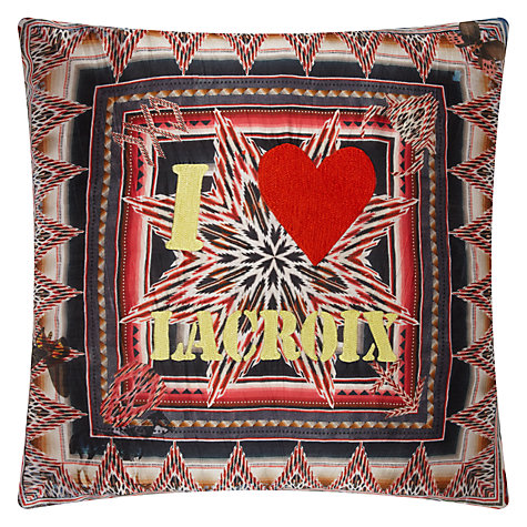 "Buy Christian Lacroix ""I Love Lacroix"" Cushion Online at johnlewis.com"
