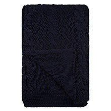 Buy John Lewis Nautical Knit Throw, Navy Online at johnlewis.com
