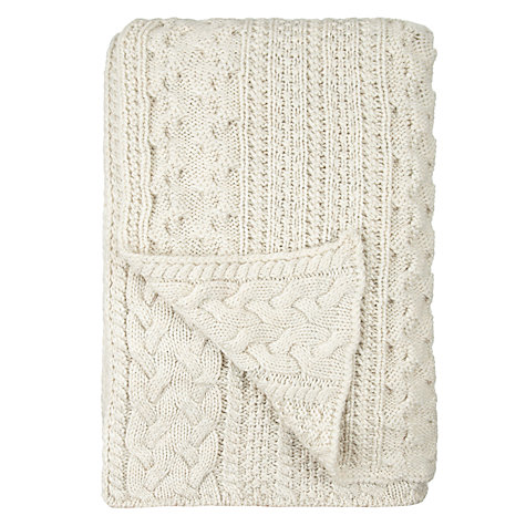 Buy John Lewis Braided Knit Throw Online at johnlewis.com