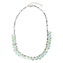 Buy One Button Pear Drop Crystal  Bead Necklace, Silver Online at johnlewis.com