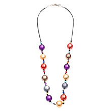 Buy One Button Pearlised Bead Necklace, Multi Online at johnlewis.com