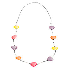 Buy One Button Large Resin Heart Necklace, Multi Online at johnlewis.com