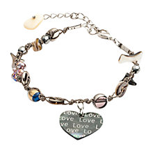 Buy One Button Love Heart Shell Bracelet, Gold Online at johnlewis.com