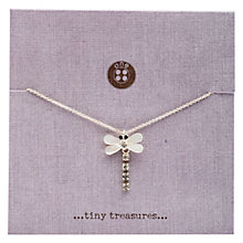 Buy One Button Tiny Treasures Dragonfly Mother of Pearl Pendant, Rhodium Online at johnlewis.com