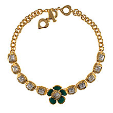 Buy Eclectica 1950s Yves Saint Laurent Enamel Flower Necklace, Gold Online at johnlewis.com