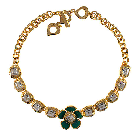 Buy Eclectica Vintage 1950s Yves Saint Laurent Enamel Flower Necklace, Gold Online at johnlewis.com