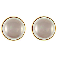 Buy Eclectica 1980s Celine Faux Pearl Gold Plated Clip Earrings Online at johnlewis.com