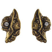 Buy Eclectica Vintage 1980s Joseff Crystal Set Clip-On Earrings, Old Gold Online at johnlewis.com