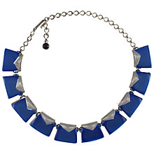 Buy Eclectica 1950s Charel Thermoplastic Link Necklace, Blue Online at johnlewis.com