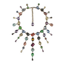 Buy Eclectica 1980s De Luxe Glass Bib Necklace, Multi Online at johnlewis.com
