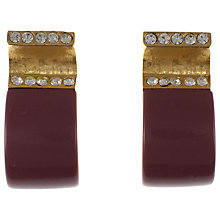 Buy Eclectica 1980s Givenchy Resin and Rhinestone Clip-On Earrings, Purple Online at johnlewis.com