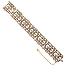 Buy Eclectica 1950s Trifari Faux Pearl Double Row Bracelet, Grey Online at johnlewis.com