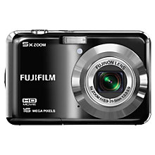 "Buy Fujifilm FinePix AX500 Digital Camera, HD 720p, 14MP, 5x Optical Zoom, 2.7"" LCD Screen, Black Online at johnlewis.com"