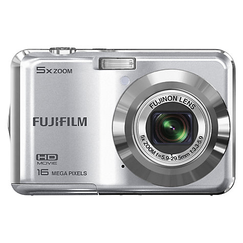 "Buy Fujifilm FinePix AX550 Digital Camera, HD 720p, 16MP, 5x Optical Zoom, 2.7"" LCD Screen, Silver Online at johnlewis.com"