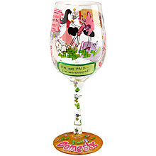 Buy Lolita Domestic Goddess Wine Glass, 0.45L, Multi Online at johnlewis.com