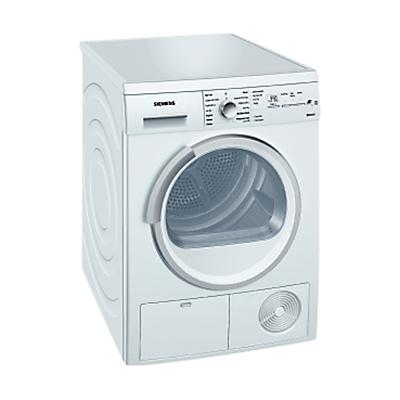 Siemens WT46E381GB Condenser Tumble Dryer, 7kg Load, B Energy Rating, White