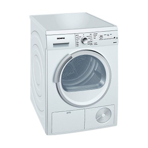 Buy Siemens WT46E381GB Condenser Tumble Dryer, 7kg Load, B Energy Rating, White Online at johnlewis.com