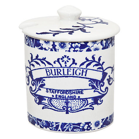 Buy Burleigh Heritage Jam Pot, Blue Online at johnlewis.com