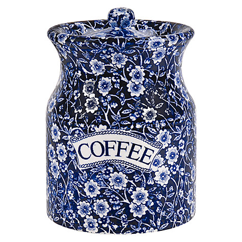 Buy Burleigh Blue Calico Coffee Storage Jar Online at johnlewis.com