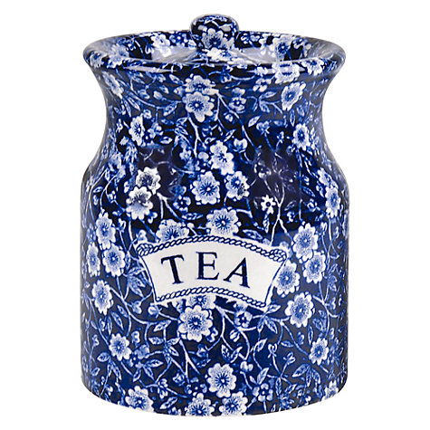 Buy Burleigh Blue Calico Tea Storage Jar Online at johnlewis.com