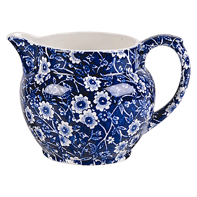 Burleigh Blue Calico Dutch Jug