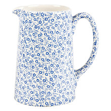 Buy Burleigh Felicity Tankard Jug. 0.29L, Blue/ White Online at johnlewis.com