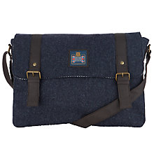Buy JOHN LEWIS & Co. Abraham Moon Wool Messenger Bag, Navy Online at johnlewis.com