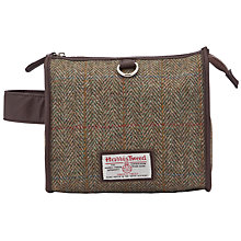Buy JOHN LEWIS & Co. Harris Tweed Wash Bag, Brown/Multi Online at johnlewis.com