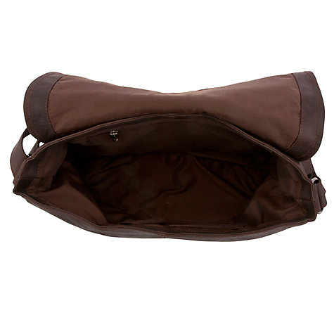 Buy JOHN LEWIS & Co. Harris Tweed Messenger Bag, Brown/Multi Online at johnlewis.com