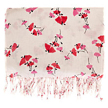 Buy Warehouse Budding Print Scarf, Neutral Print Online at johnlewis.com