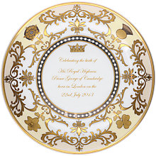 Buy Royal Worcester Royal Baby Round Tray, Dia.13cm, Cream/ Gold Online at johnlewis.com