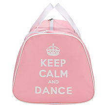 Buy Tappers and Pointers Keep Calm and Dance Holdall, Pink Online at johnlewis.com