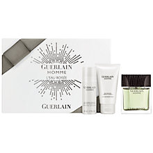 Buy Guerlain Homme L'Eau Boisée Eau de Toilette Gift Set, 80ml Online at johnlewis.com