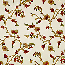 Buy John Lewis Bilhaur Fabric, Red Online at johnlewis.com