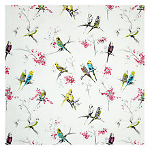 Buy Blendworth Chirpy Fabric, Pink Online at johnlewis.com