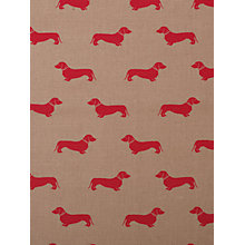 Buy Emily Bond Dachshund Fabric, Red Online at johnlewis.com