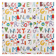 Buy John Lewis Alphabet Fabric, Multi Online at johnlewis.com